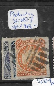 BOLIVIA  (P1707B)   SC   25-7    VFU