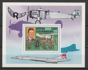 Central Africa MNH S/S Charles Lindbergh