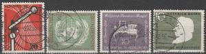 Germany #734, 736, 739-40 F-VF Used CV $9.75 (C7263)