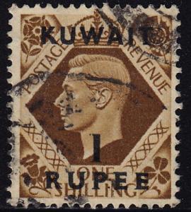 Kuwait - 1948 - Scott #79 - used - Overprint Surcharge