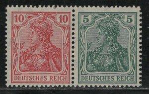 Germany Scott # 83, 82, mint hr, se-tenant, Mi# W8aa