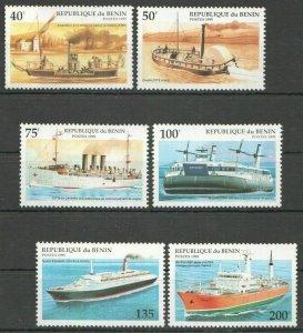 L0545 1995 BENIN TRANSPORTATION SHIPS & BOATS 1SET FIX