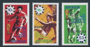 Redonda #MK 23-5 NH Antigua World Cup Soccer Issue Ovptd. Redonda