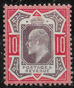 GB SG255a 1906 10d SLATE-PURPLE & CARMINE NO CROSS ON CROWN VAR MTD MINT