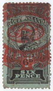 (I.B) Australia - Queensland Revenue : Impressed Duty 6d