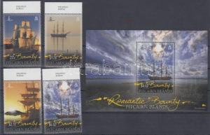 Pitcairn Islands stamp The Bounty sailing ship margin set + block MNH WS119699