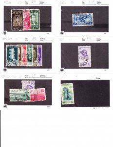 italy - small group sc #351//489 15 stamps cv $14