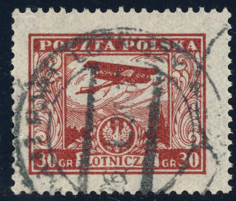 POLOGNE / POLAND 1925 - Mi.231 30Gr Carmine - Used