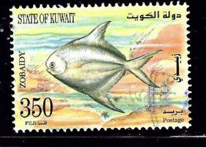 Kuwait 1366 Used 1997 Marine Life    (ap1020)