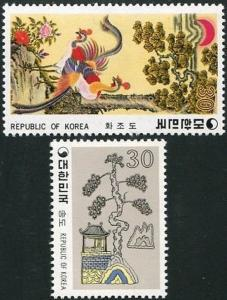 Korea South 1980 SG1439 Folk Paintings (4th series) set MNH