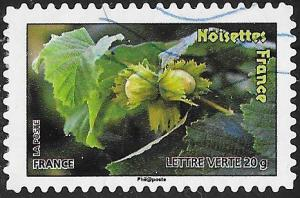 France 4189 Used - ‭Fruit - Hazel Nuts