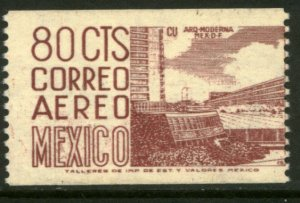 MEXICO C348 80¢ 1950 Def 6th Issue Fosforescent unglazed COIL MINT, NH. VF.