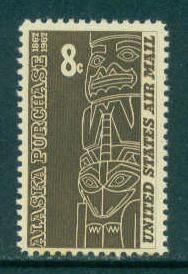 C70 8c Alaska Fine MNH Plt/4 UL 29022 F11459