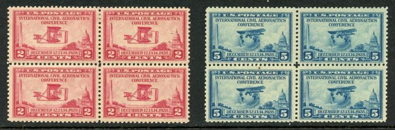 U.S. Scott 649-650 Unused Aeronautics Conference Blocks