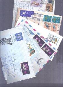BRITISH COLONIES COVERS POSTCARD TUVALU KENYA SAMOA SOUTH AFRICA MAURITIUS MA...
