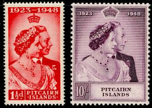 PITCAIRN ISLANDS SG11-12, COMPLETE SET, NH MINT. Cat £40. RSW.