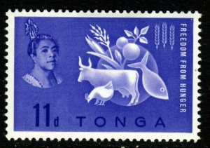 TONGA 1963 Freedom from Hunger Issue SG 128 MINT