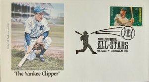 AFDCS 4697 Joe DiaMaggio The Yankee Clipper Slogan HOF Cancel