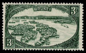 BRUNEI GVI SG81, 3c green, M MINT.