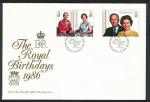 Isle of Man Royal Birthdays 3v FDC SG#328-330