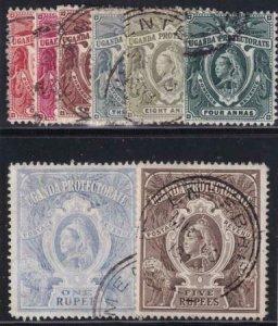 Uganda 1898-1902 SC 69-76 Used Set