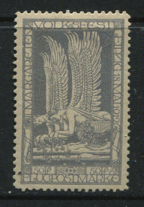 Germany 50 pf 1919 Airmail Cinderella mint o.g. hinged Michel 150 DM