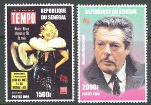 Senegal Sc# 13481349 (stamp only) MNH (ITILIA 98) 1999 Actors & Actresses