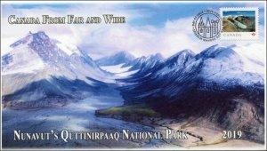 CA19-010, 2019,Far and Wide, Pictorial Postmark, First Day Cover, Quttinirpaaq N