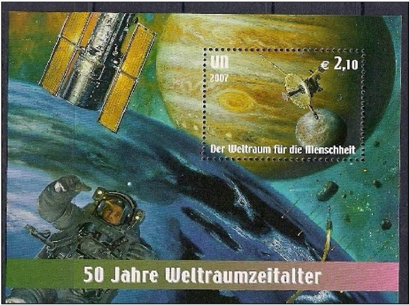 United Nations Vienna - Space for Humanity, MNH, Mi bl.21