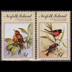 NORFOLK IS. 1990 - Scott# 500a-b Birds-Robins Set of 2 NH