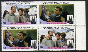 Tuvalu Nanumaga #72ab mint pairs, royal wedding