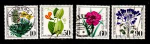 Germany Sc B589-91 1981Endangered Flower stamp set used