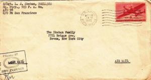 1945, APO 98 (Hawaii) to Bronx, NY (S13051)
