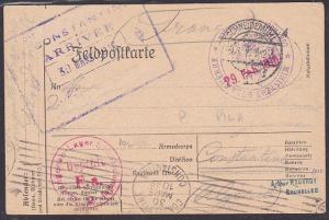 POLAND GERMANY 1916 German field postcard to Algeria ex SCHNEIDEMUHL........1573
