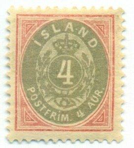 ICELAND #23, Mint Hinged, Scott $18.00