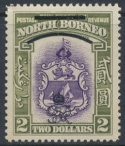 North Borneo  SG 348 SC# 236 MH    OPT GR Crown - See scans