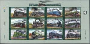 Marshall Islands stamp Locomotive minisheet MNH 1996 Mi 733-744 WS235964