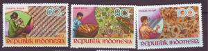 J21058 Jlstamps 1973 indonesia set mh #852-4 batik designs