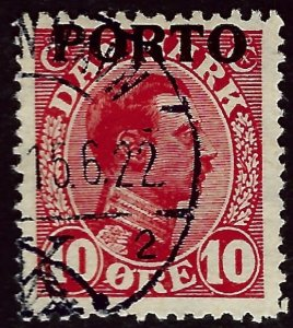Denmark SC Porto J4 Used VF hr....A World of Stamps!