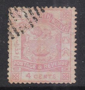 North Borneo 1887 Sc 38 Coat of Arms 3c Used