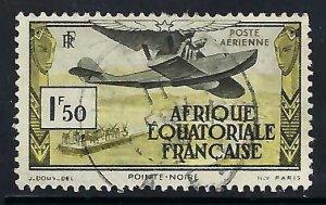 French Equatorial Africa C1 VFU AIRPLANE A1286