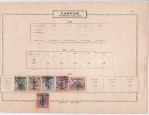 labuan postage due   early  stamp as shown ref 12339