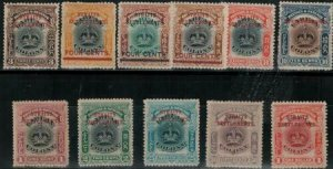 Straits Settlements 1907 SC 134A-144 Mint Set