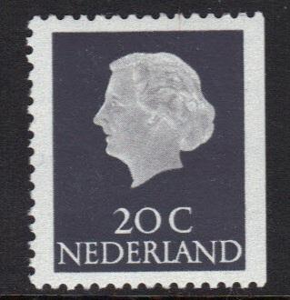 Netherlands 1966 MNH booklet 20ct right imperf