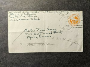 APO 334 GUAM, MARIANAS ISLANDS 1946 Air Force Cover 29 BOMB Gp Officer's Mail
