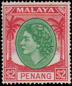Malaya Penang Scott 43 Unused lightly hinged.