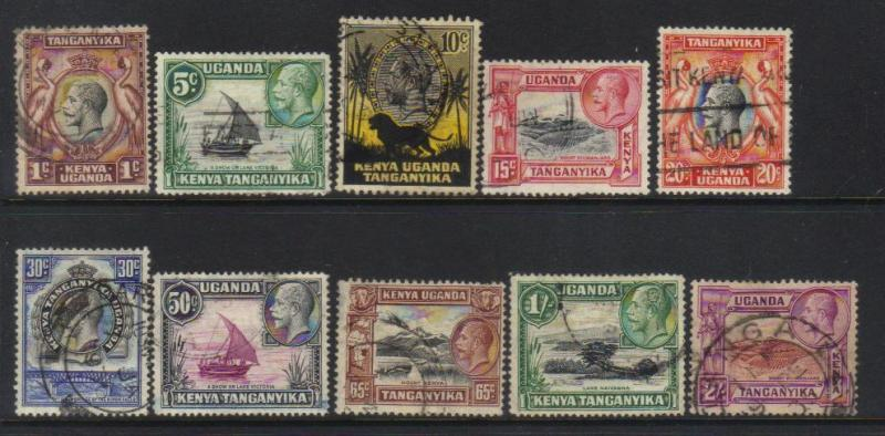 K.U.T 1935-1937 DEFINS 10 USED VALUES CAT £11+