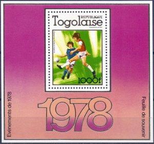 Togo. 1978. bl122A. sport soccer. MNH.