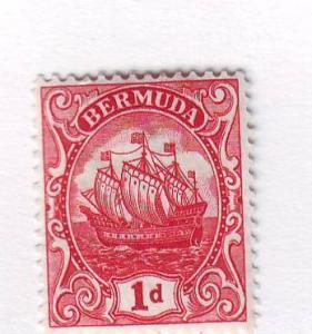 Bermuda Sc 83a 1926 1d carmine Caravel stamp mint