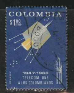 Colombia Scott C499 Used  Airmail stamp 1968